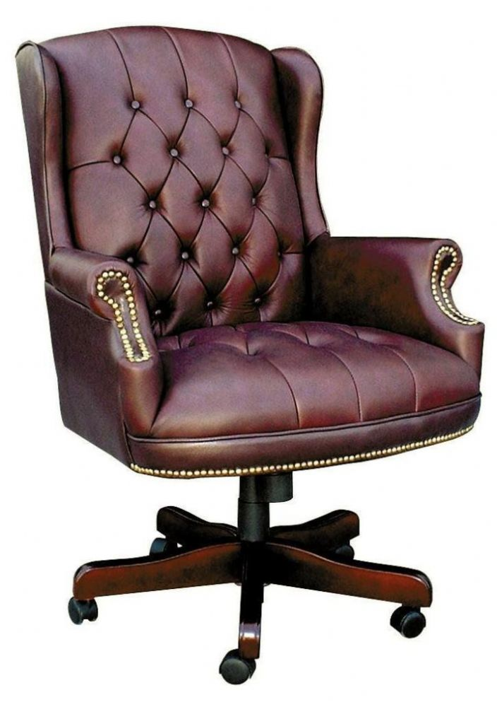 TEKNIK Chairman Swivel Luxurious Traditional Swivel Chair in Burgundy or Green